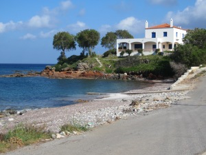 Good digs at the end of Agia Pelagia beach northern Kythera.