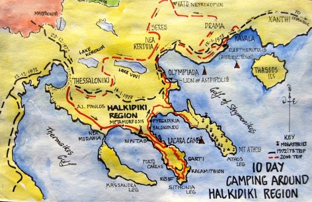 1 map chalkidiki