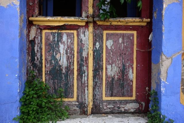 Bottom panels of the front door.