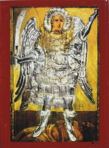 Archangel Michael of Panormitis of the island of Symi Greece.  Symi Island is just off the Turkish coast.