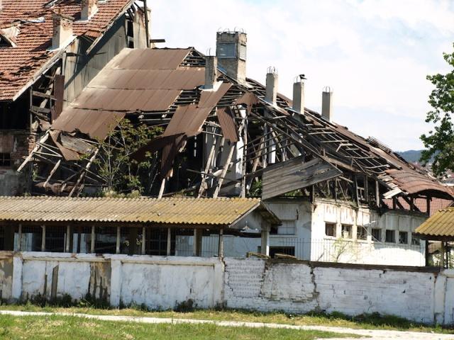 Abandoned factory/warehouse.