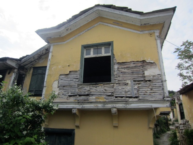 Double storey lath and plaster house.