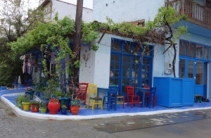 Restaurant with a fresh coat of colours for the summer.
