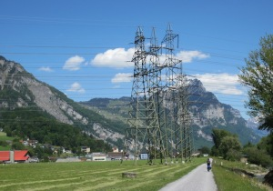 Power line web.