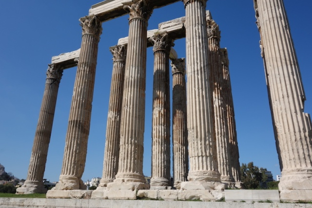 Columns intact. Segment join lines can be seen in these columns.