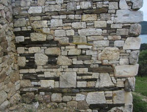What a feature, hand hewn stones in perfect symmetry.