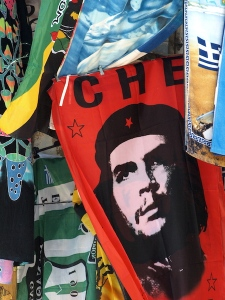 Che Guevara (1928-1967).  Photograph taken in an Athens flea market.