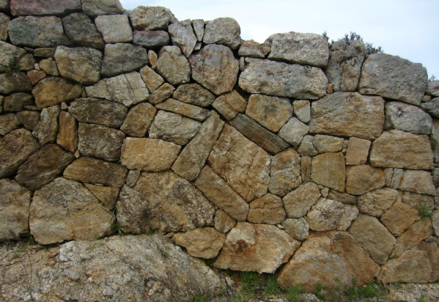 Another section of wall, angular random rubble.