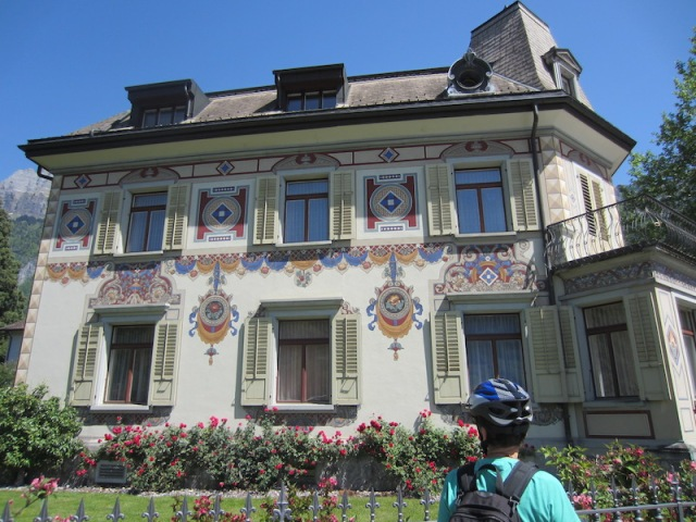 A painted house in Walenstadt