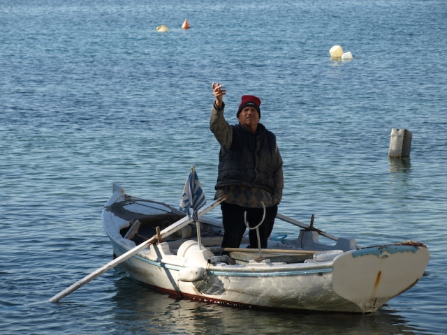 A small player at the port of Piraeus.