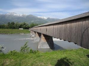 A million dollar Swiss bridge over the Rhine