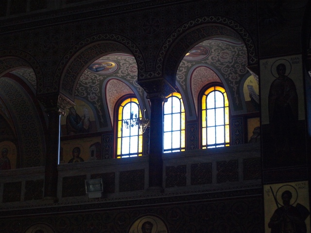 Interior of the Agia Nikolaos church in Piraeus. I have to say I was pretty impressed with the interior decoration.