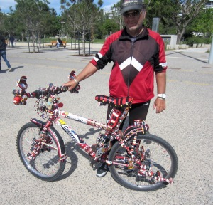 Proud owner with his bells and whistles bike