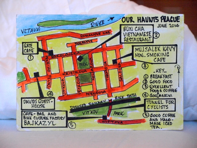 The map of our Prague haunts.