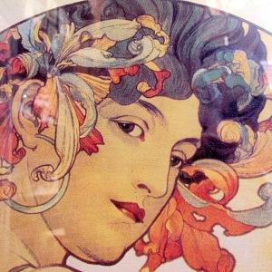 Art nouveau style art close up.