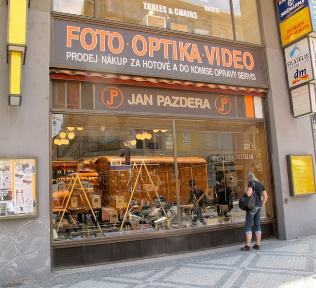 Jan Pazdera vintage camera shop, Prague