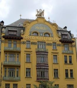 The Grand Hotel Europa, a classic piece of art nouveau architecture.