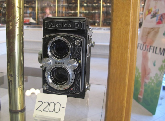 Yashica medium format film camera. 2200 is the price in Czech Koruna (about A $115).