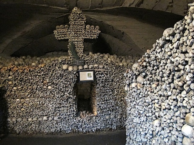 The memorial in the ossuary of the Church of St Peter and Paul.