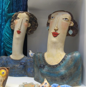 Desirable ceramic ladies of Prague.