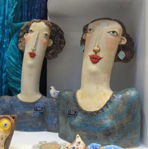 Desirable ceramic ladies of Prague.