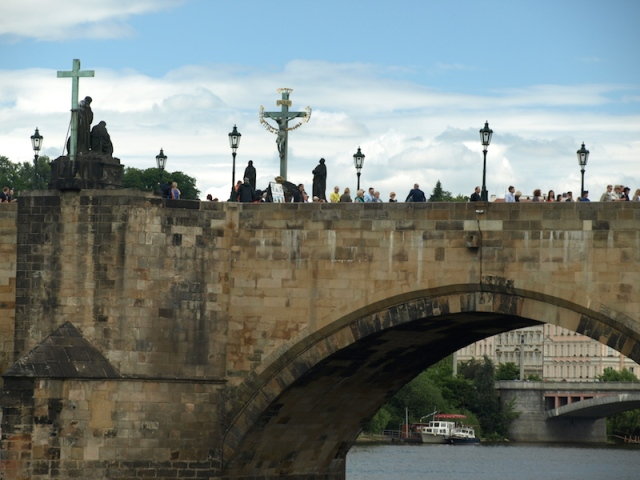 The Charles Bridge really is impressive and tourists flock to it to be able to say 'been there done that'.