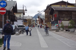 Main street of Livigno.  About four kilometres of wall to wall shops selling designer label goods, alcohol, cigarettes and perfumes and hotels selling accommodation.