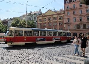 Prague tram.