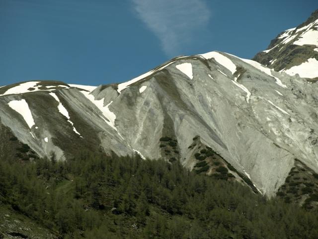 Rotten limestone mountain.