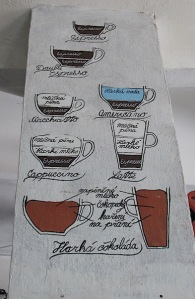 Explanation as to what coffee is what.