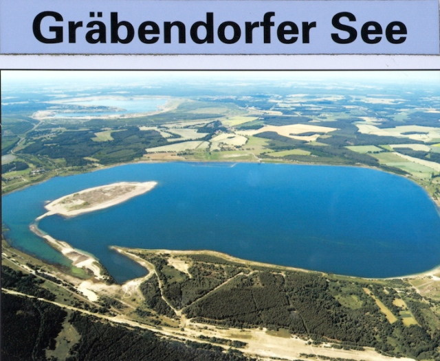 Open-cut mine flooded in 2007.