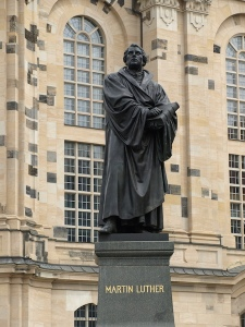 Grand statue of Martin Luther.