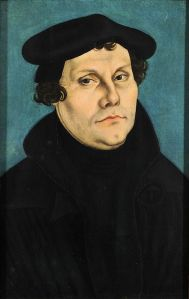 Portrait Martin Luther 1528.   Uploaded to Wikipedia by Cranach.
