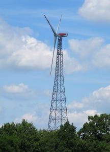 Fuhrlander wind turbine near Grabendorfer See.