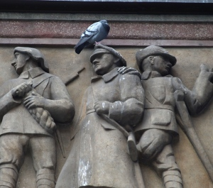 A 'rat with wings' defacing the heroes.