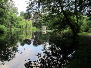 There are vast amounts of water in the Spreewald area and this lake is an example.