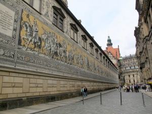 Procession of the Princes on the outer wall of the Stallhof (Dresden Castle Stables courtyard).