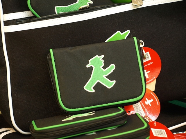 Purses, wallets and even children's books depict and tell stories about the ampelmann.