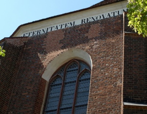 Same church but brick restoration done in a more sympathetic manner.