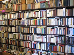 Books, books, books and English ones too.