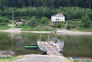 Ferry across the Elbe.