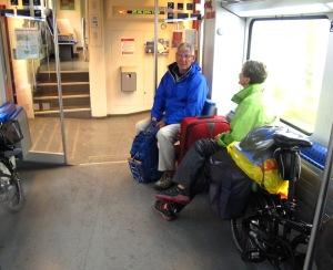 On the train from Bad Schandau to Dresden we met Seve.
