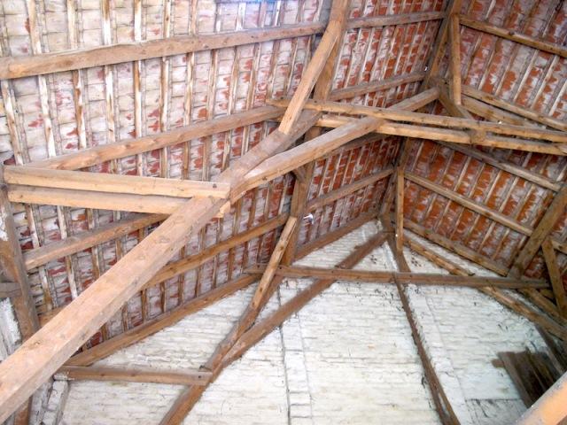 Barn roof construction.
