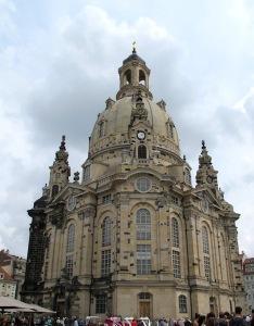 The re-built Frauenkirche Church.