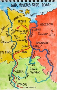 General overview of our 'River Rides' along the Vltava, Elbe, Oder and Neisse Rivers.