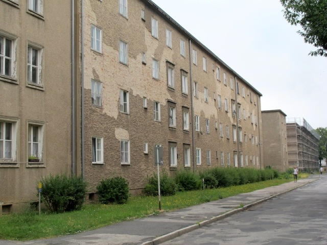 Iron Hut City socialist-style apartment blocks.