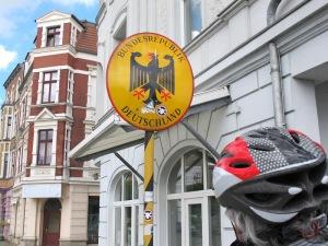Crossing back into Guben in Deutschland.