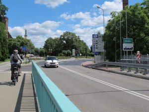 Crossing the Neisse River into Poland.