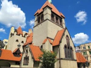In Guben, the Church of the Good Shepherd, built 1903 in art nouveau style.