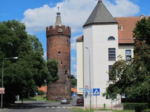 In Gubin, the Fat Tower, part of the now non-existent wall fortification. Built around 1530.